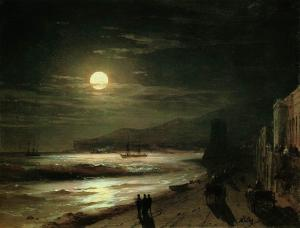 Moon-1885 by Ivan Aivazovsky
